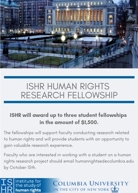 ISHR Research Fellowship