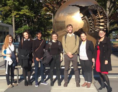 Inga Winkler and students visit UN.