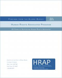HRAP Alumni Survey 2015